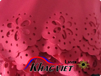 Cắt laser hoa văn trên vải, khắc laser, gia công trên mọi vật liệu.