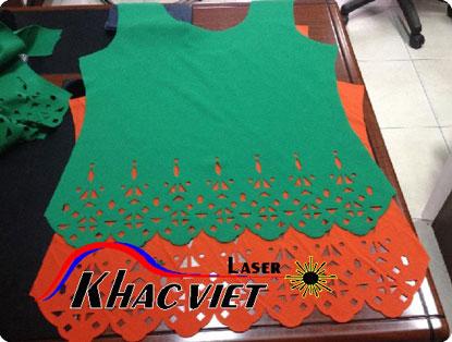 Cắt laser trên vải tạo, khắc việt laser gia công trên mọi vật liệu